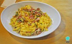 Receta de Pasta con calabacín y bacon - ¡Espectacularmente sabrosa! #RecetasGratis #RecetasFáciles #Pizza #Pasta