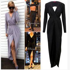 Sam Faiers Celebrity Inspired Black Slinky Goddess Maxi Dress