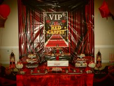 Robert's Red carpet VIP 40th birthday party candy bar  #bigsexy40