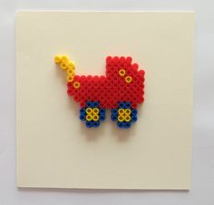Baby stroller card hama beads by deligted