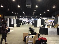 I always love seeing how things look at the beginning of a show before everything is all set up. Vancouver Pet Expo 2013