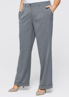 Pantalone a gamba larga Grigio melange - bpc selection è ordinabile nello shop on-line di bonprix.it da ? 29,99. Pantalone dal taglio ampio in tessuto ...