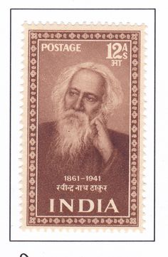 Resultado de imagem para SELO DE Rabindranath Tagore,