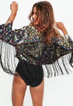 hop Festival Outfit - New Ideas Glitter Jacket, Glitter Outfit, Sequin Outfit, Sequin Jacket, Kimono Outfit, Music Festival Outfits, Festival Fashion, Diy Festival Clothes, Black Festival Outfit