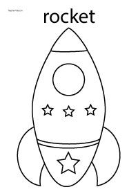 real rocket coloring pages - photo#12