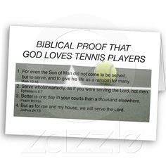 proof that God loves tennis players