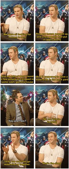It's official. #Hiddlesworth :D | Chris Hemsworth + Tom Hiddleston = THE BEST #BROMANCE OF ALL TIME!