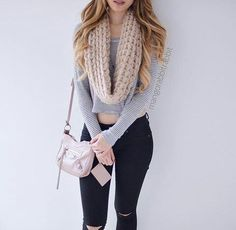 Find images and videos about girl, fashion and outfit on We Heart It - the app to get lost in what you love. Outfits For Teens, Trendy Outfits, Winter Outfits, Cropped Top Outfits, Moda Outfits, Black Women Fashion, Girl Fashion, Fashion Outfits, Pinterest Fashion