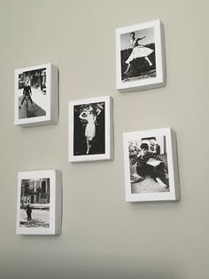 Birchbox upcycle gallery wall ! Reuse birch boxes by wrapping them with chic photos #gallerywall #birchbox