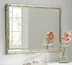 bathroom mirror bamboo frame - Google Search