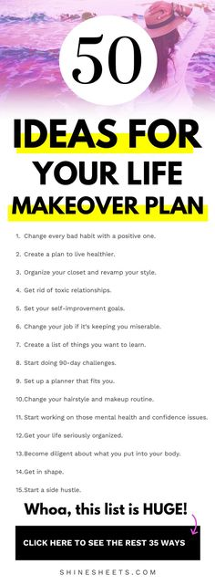 Bright Ideas For Your Life Makeover Plan + FREE Printable Checklist Get a helpful list of bright and cheerful ideas to kick-start your life makeover and make your personal development feel like a peace of cake. Max Lucado, John Maxwell, Self Development, Personal Development, Leadership Development, Get Your Life, Happiness, Self Improvement Tips, Self Care Routine