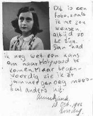 Anne Frank was a victim of the Holocaust. This is an example of an actual diary page. This page links to the Holocaust museum and has information about the victims and survivors of the Holocaust.