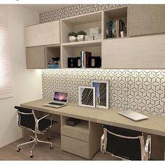 45 ideas double closet organization home office for 2019 Home Office Table, Home Office Space, Home Office Desks, Guest Room Office, Office Decor, Office Interior Design, Office Interiors, Study Room Design, Home Office Organization