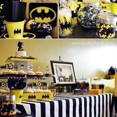 Batman party....for When Batman comes to visit