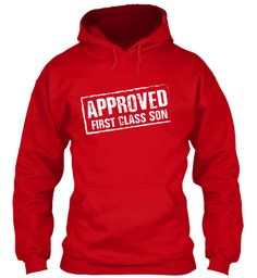 Approved First Class Son Red T-Shirt Front