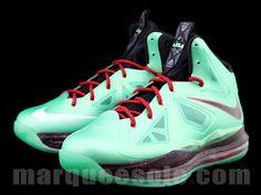 $180 Nike LeBron X Cutting Jade   Detailed Look