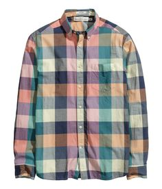 checked shirt with fresh colors for spring & summer