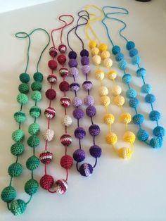 Colares de crochet