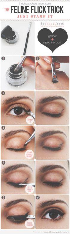 Tutorial paso a paso para aprender a maquillar y pintar la linea del ojo