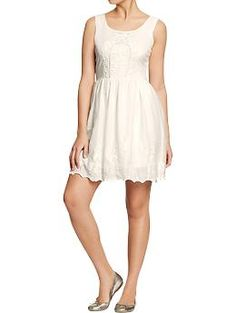 Womens Scalloped-Lace Dresses | Old Navy