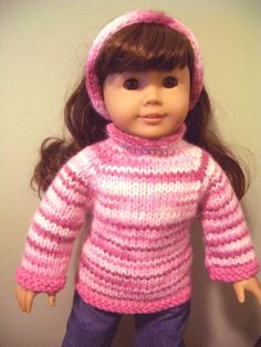 mltb (6) Name: 'Knitting : 2 designs in 1 KNITTING pattern 18' doll