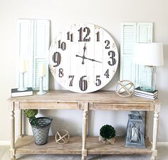 World Market Everett foyer table decor, family room decor