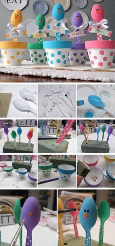 Colorful Place Holders | DIY Easter Crafts for Kids to Make | Easy Easter Crafts for Toddlers to Make #craftsforkidstomake