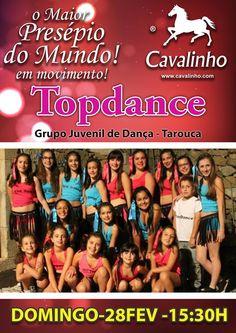No próximo domingo teremos o Grupo Topdance. O Maior Presépio do Mundo em Movimento recebe a Associação Intergeracional Elas Elas de Tarouca que nos vem animar com muita dança. A não perder!