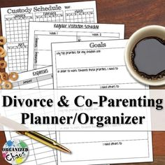 Organized Chaos: Mommy Monday: printable co-parenting / divorce planner. free download. great way to help keep track of custody schedule, court dates, documents, expenses, even journal and goal setting.