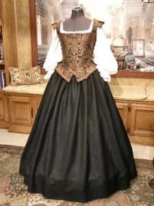 Middle or Merchant Class Tudor gown with farthingale.  Much closer to what my ancestors would have worn.