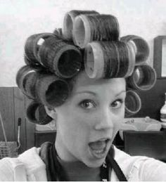 Big Hair Rollers, Sleep In Hair Rollers, Curly Perm, Womanless Beauty Pageant, Perm Rods, Updo Styles, Bobe, Hair Setting, Roller Set