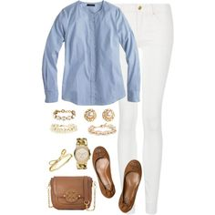 scalloped shirt, created by classycathleen on Polyvore