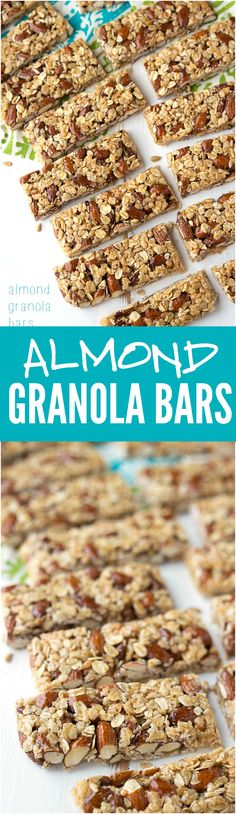 Amazing homemade granola bars full of delicious almonds!