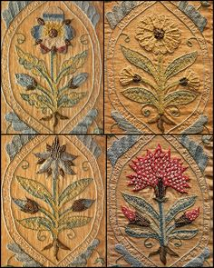 https://flic.kr/p/6mKc1w | 17C Embroidery - flower motif | Victoria and Albert Museum - British Galleries