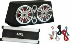 """MPL MBB-300-26TZ High Powered Dual 12-Inch 1200 Watt  Ported Subwoofers, Amplifier and Wiring Kit by MPL. $139.99. All MPL enclosures feature state of the art design, assembly and material. Dado and Rabbet construction make each product airtight. Special plated posts, glue and fasteners are used for the best performance. All ports are rounded at the ends and corners and insert baffle panels are included for that custom built look. Finally, all enclosures use 1"""" thick MDF ..."""