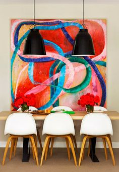 Bright, bold and beautiful apartment in Melbourne - Just shows what art can do with your space