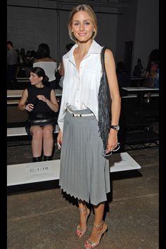 Tibi - Olivia Palermo - grey skirt