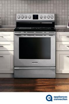 Frigidaire Professional 30 Inch Freestanding Electric Range with cu. Capacity, 5 Elements, PrecisionPro Controls, Self Clean, and PowerPlus Single Fan Convection Oven in Stainless Steel Kitchen Decor, Kitchen Design, 5 Elements, Drawer, Oven, Electric, Kitchen Appliances, Window, Range