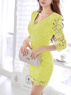 Morpheus Boutique  - Green Lace Long Sleeve V Neck Sexy Designer Dress, $139.99 (http://www.morpheusboutique.com/new-arrivals/green-lace-long-sleeve-v-neck-sexy-designer-dress/)