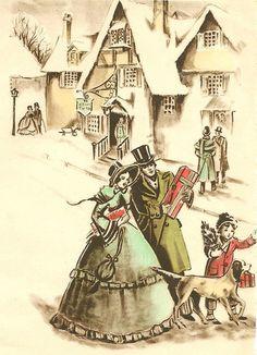 vintage shoppers by in pastel, via Flickr