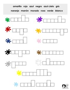 Spanish colors, Spanish worksheets
