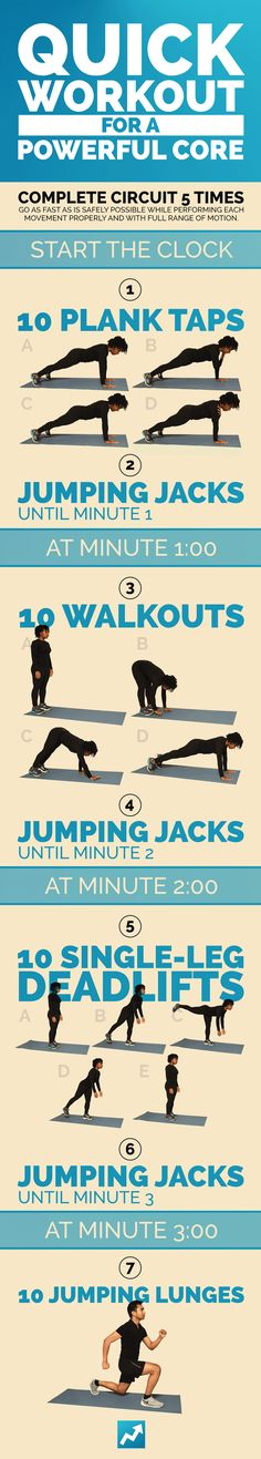 Quick Workout for a Powerful Core | 9 Quick Total-Body Workouts You Can Do Literally Anywhere