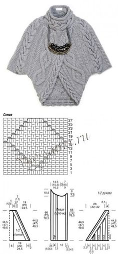 This looks like a wonderful idea for a long knitted strip folded into a cardigan.