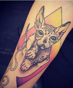 Onnie O'leary cat tattoo