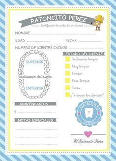 Certificado caída de dientes by LaGalletadeAzucar on Etsy Baby Shawer, Baby Love, Dental Health, Dental Care, Dental Videos, Link And Learn, Free Dental, Plan Toys, Health Care Reform