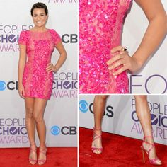 Lea Michelle on People's choice awards, Gorgeous barbie