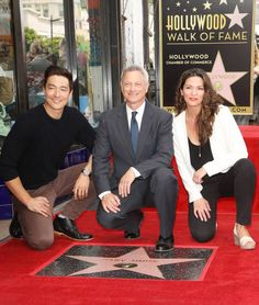 Daniel Henney Gary Sinise and Alana De La Garza attend the ceremony honoring Gary Sinise with a Star on The Hollywood Walk of Fame held on April 17...