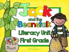 Jack and the Beanstalk First Grade Literacy - This product is part of a bundle.  Let your firsties decide if they would have climbed up the beanstalk like Jack did and then do the following activities Read Aloud/Vocabulary Cards, Whole Group Retelling Cards, Whole Group Discussion Questions, Small Group Student Reader, Center Activities, Identifying Homophones, R-Controlled Vowels, Ending Sounds, Suffix ed, Sight Words Scrambled Sentences, Bossy E Words, Writing  Opinion.
