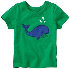 Meet a new crew of supercrafted appliqués on supersoft cotton sueded tees with the long-playing quality of our very best basics.  <br>• Expanded baby/toddler sizes = a perfect fit for every little one <br>• Supersoft 100% cotton sueded jersey <br>• Front appliqué  <br>• Whale appliqué has flocking <br>• Certified by OEKO-TEX® Standard 100 | 03.U.9375 - FI Hohenstein  <br>• Prewashed <br>&...