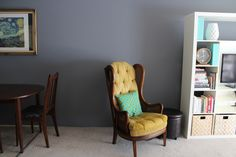 Dior Gray by Benjamin Moore | Painted Love Blog  possible color for living room with the brick painted witching hour